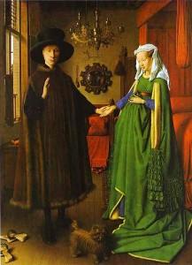 Van Eyck, Les époux Arnolfini, 1434, National Gallery, Londres