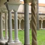 Cloître XIIème siècle, Céfalu, Sicile. Style romano-byzantin, apparition d'arcs brisés.