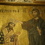 Mosaïque byzantine XIIème siècle, église Sainte Marie de l'amiral, Palerme.
