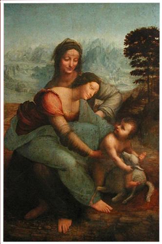 La Ste Anne, Léonard de Vinci